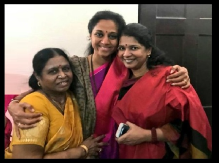 Kanimozhi, Supriya, Rajathi, family