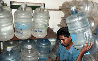 How mineral water is supplied